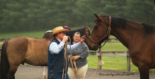 George Schaefer works with Tamla Nichols horse.