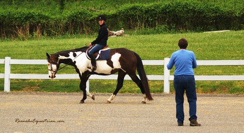 Gabi Hooten instructs the Dressage session