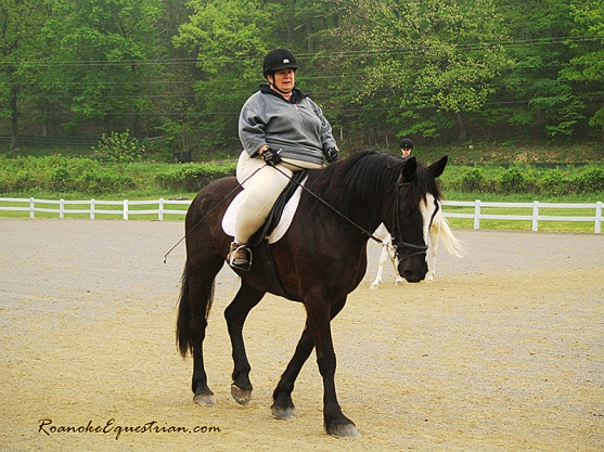 Tamla Nichols takes part in the Dressage clinic.