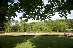 Ardmore Equestrian Center's outdoor arena.