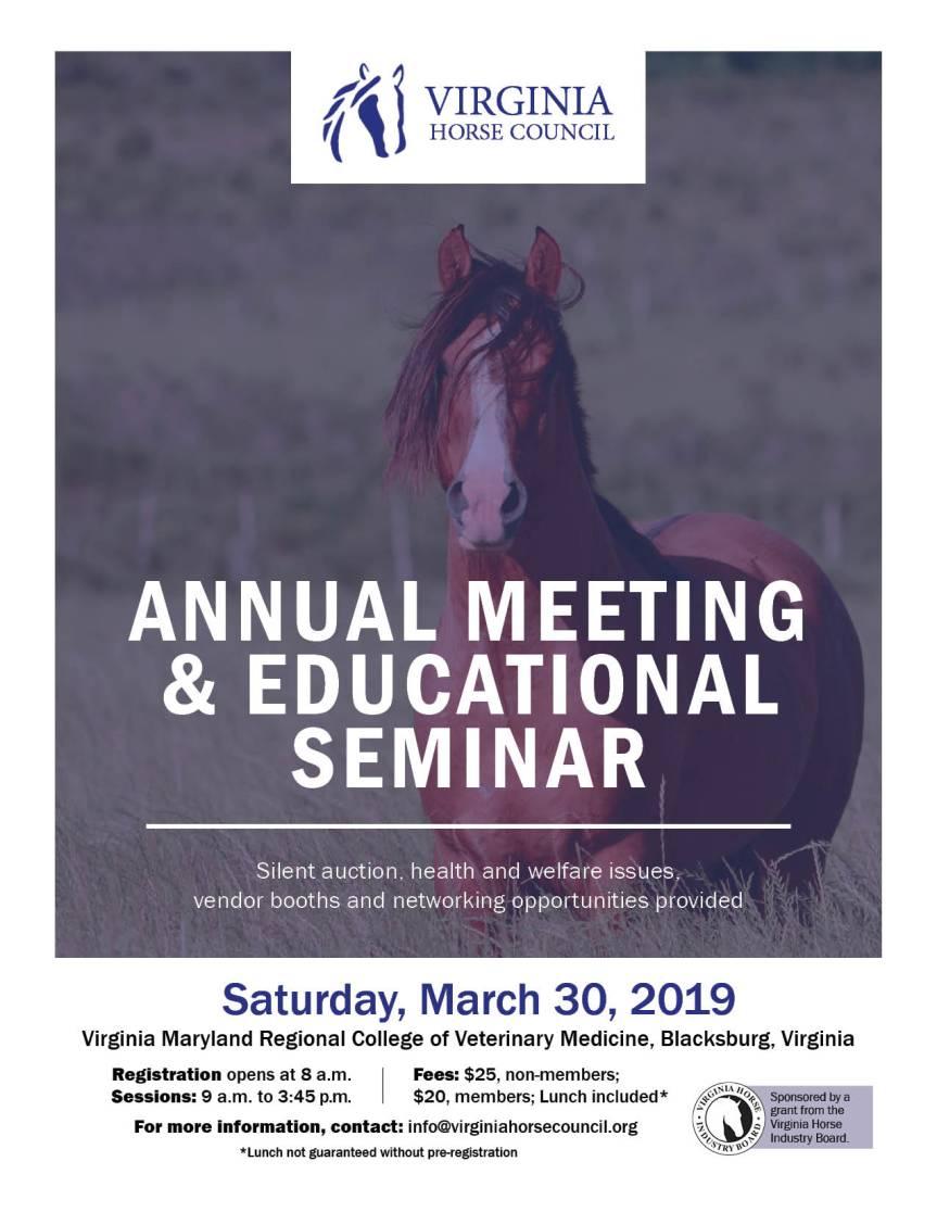 horse council seminar flyer